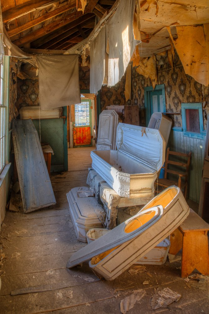 Even a wild west town like Bodie needs a morgue. This was where they brought a lot of their dead to be embalmed before burial.