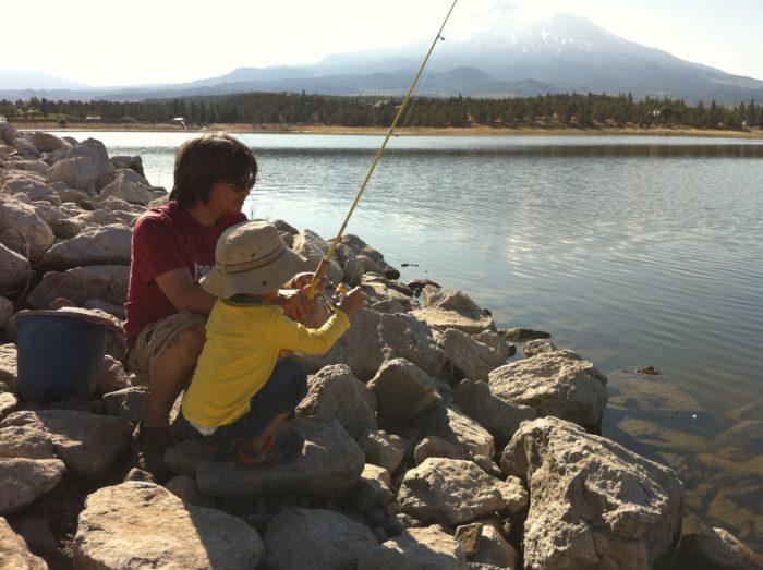 8. Teach a little friend how to fish in Lake Shasta.