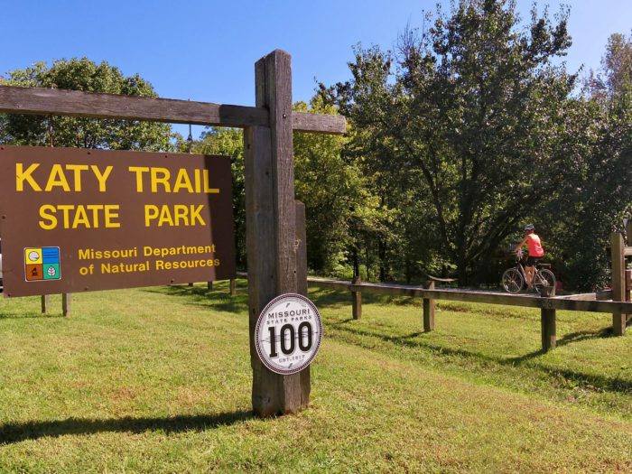 The Katy Trail is actually registered as a state park, all 240 miles of it. Now, that's pretty neat.