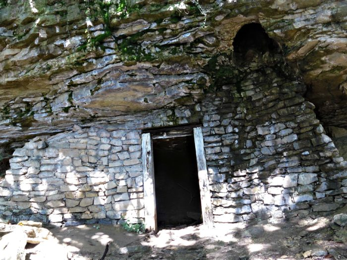 You may even come across a hidden door in one of those bluffs. This was found about a mile south from the Rocheport Trailhead along the Katy Trail.