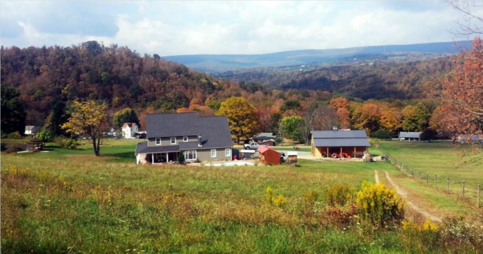 The ride will take you past charming valleys speckled with farm houses...