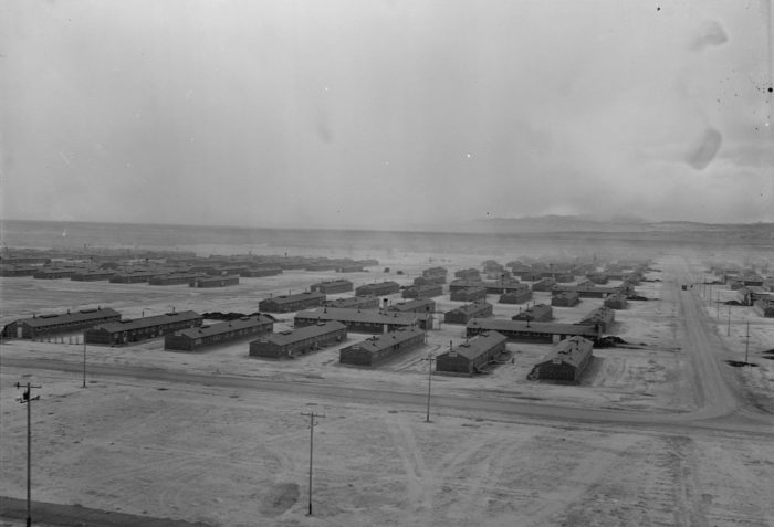Topaz opened on September 11, 1942. Over 11,000 people were processed through the camp during World War II. Most came from the San Francisco Bay Area.