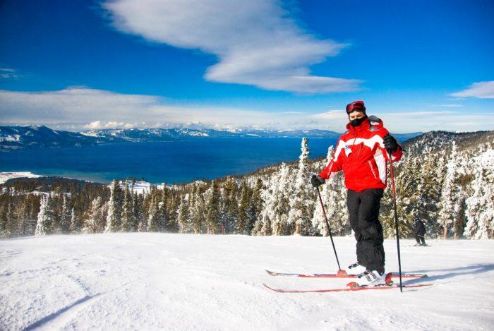 2. Ski the mountainside in Lake Tahoe.