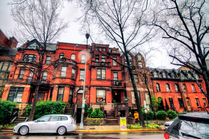 From the outside, the Mansion on O looks like any other Dupont Circle row house but it is actually a series of five interconnected town houses that have over 100 rooms and over 70 secret doors.