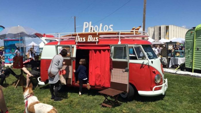 Jump inside a VW bus and have some cool photos taken. You're going to need those great shots for your social media--after all, we need to let everyone know what we're doing at all times, right?