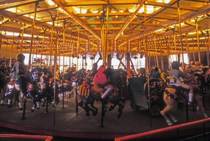 10. Santa Cruz Looff Merry-Go-Round and Giant Dipper Wooden Roller Coaster