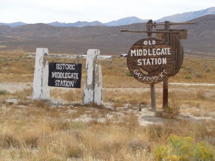 Old Middlegate Station is worthy of its own road trip or a stop on your journey to some place else.