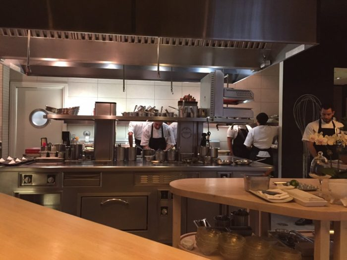 This is where the magic happens and where you will watch the chefs prepare your 26 course meal. And yes, it is a 26 course meal and it costs $275/per person so it is an investment but one that all foodies have to admit is worth it.