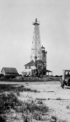 The Mispillion Light had a doomed history from the start - it was replaced with a steel tower in 1929, but even that didn't stand peacefully.