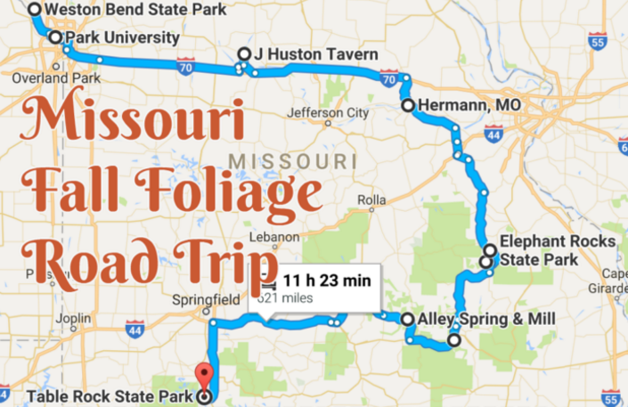 Best Autumn Road Trip In Missouri
