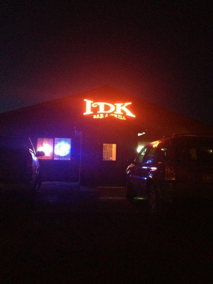 5. IDK Bar & Grill - Jamestown