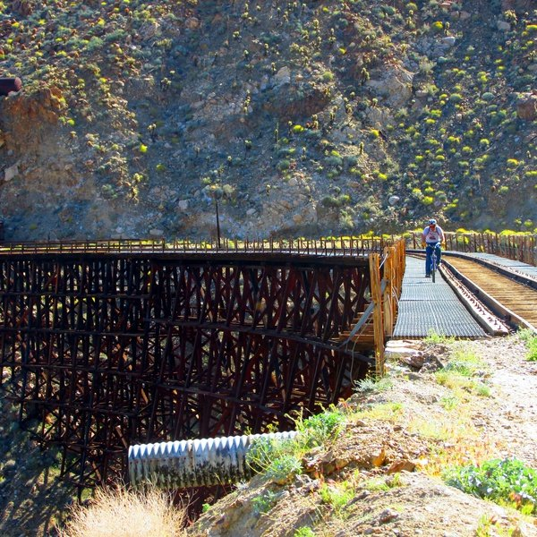 """It is part of the Carrizo Gorge Track, which was called the """"impossible railroad"""" during its construction in 1919."""