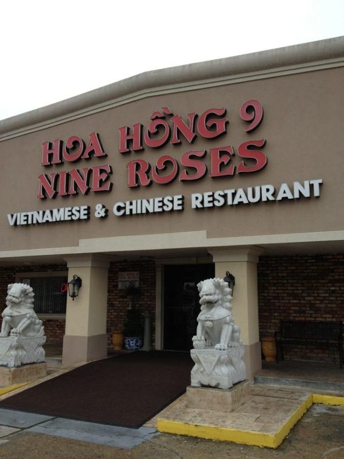 4) Hoa Hong 9 Nine Roses, 1100 Stephens St.