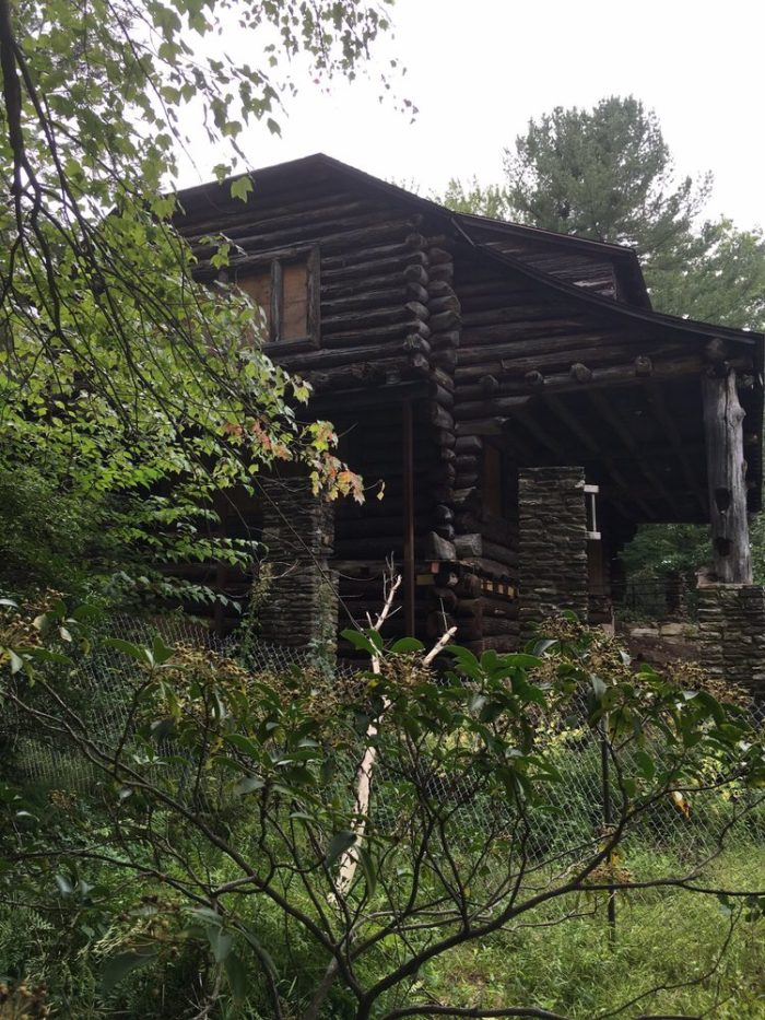 There's also an old cabin, built in 1917, that overlooks the Case Pond.
