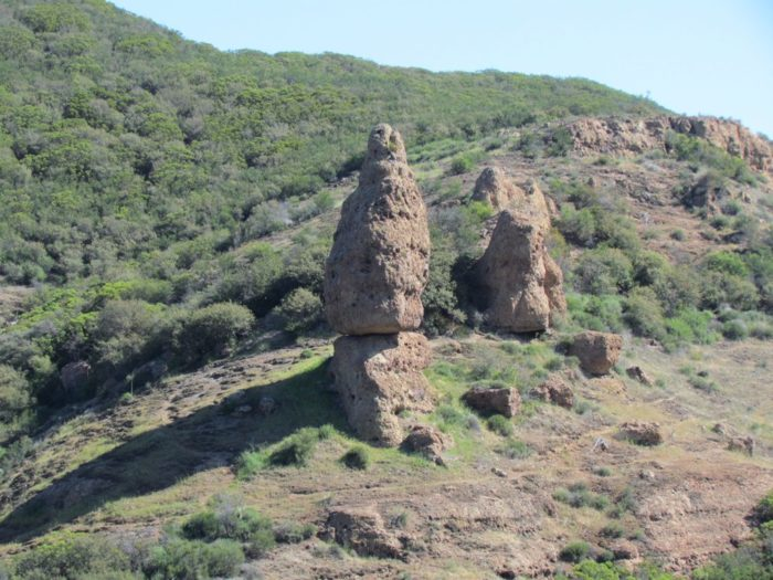Along the way, you'll see balanced rock across the valley.