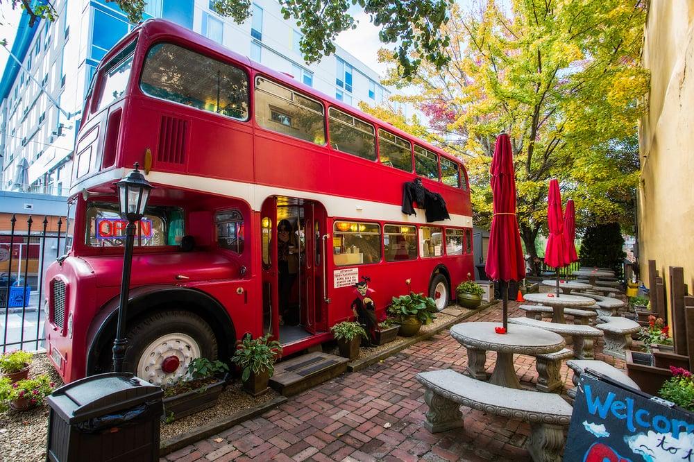Double Decker Coffee Shop In Asheville North Carolina