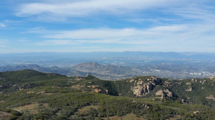 The view from Sandstone Peak is incredible.