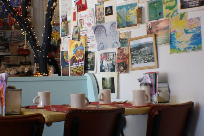 Maggie's Krooked Cafe carries out the town's unique character with funky decor and great tasting dishes.