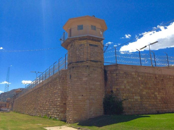 (See this daunting looking structure? It is the Colorado Territorial Correctional Facility, which is adjacent to the museum. This building is still very much in use, so do NOT get the two confused.)
