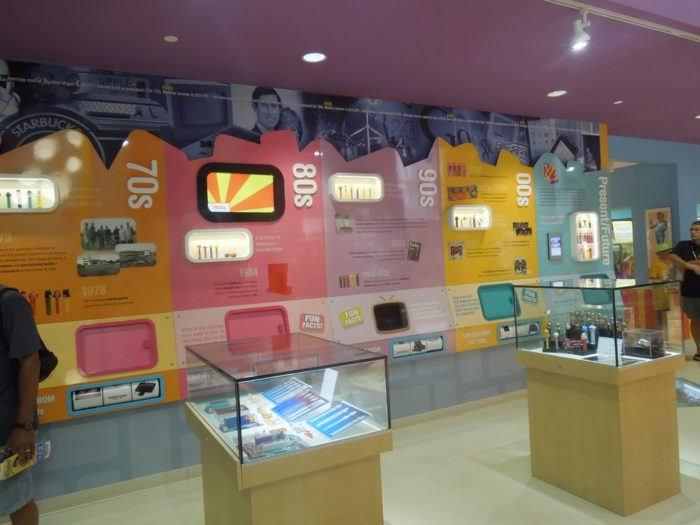 This wall lets you see the history of PEZ candies, which have been around since 1927! Discover the international (and minty fresh) past of one of America's favorite candies through photos, videos, and interactive displays.
