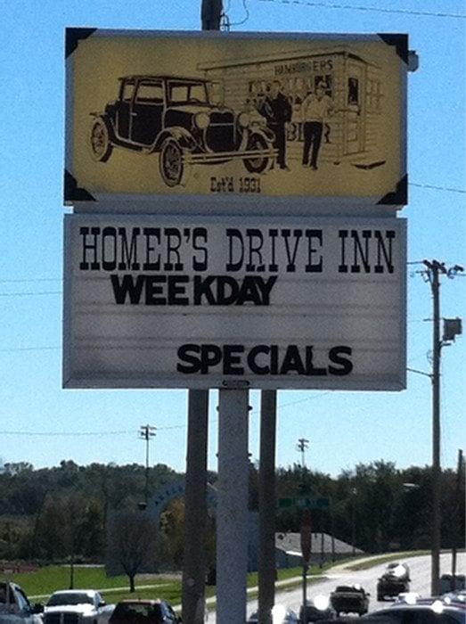 1. Homer's Drive Inn (Leavenworth)