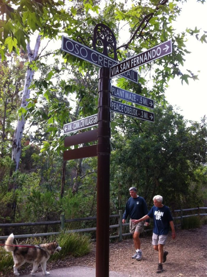 Oso Creek Trail is part of a 5.5-mile trail system that will take you along a variety of routes. Each trail is beautifully maintained, well-manicured, and clearly marked.