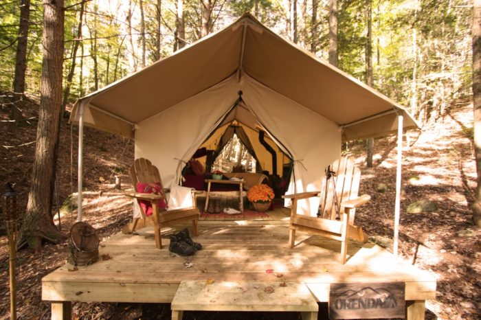 5. Cozy up with your loved ones at one of our amazing glampgrounds like Camp Orenda.