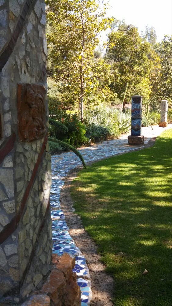 In addition to enjoying a variety of plants and wildlife along the trail, you'll also find art and colorful mosaic tiles that add some unexpected beauty to this hike.