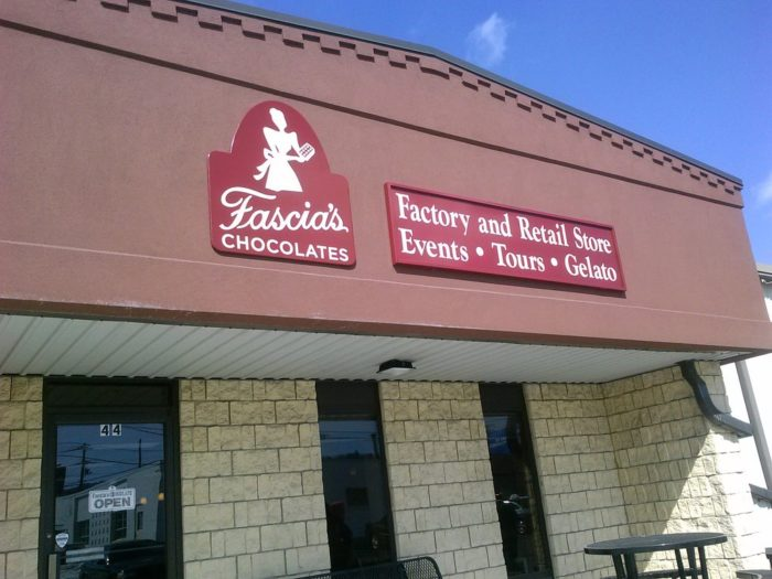 Fascia's Chocolates is located at 44 Chase River Road in Waterbury.