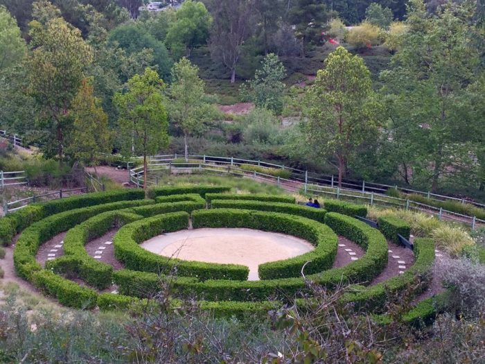 This hedge maze is about three feet high. Take some time to wander through the maze and enjoy its beauty while you take a break from your hike. It's also a perfect spot to snap a picture.