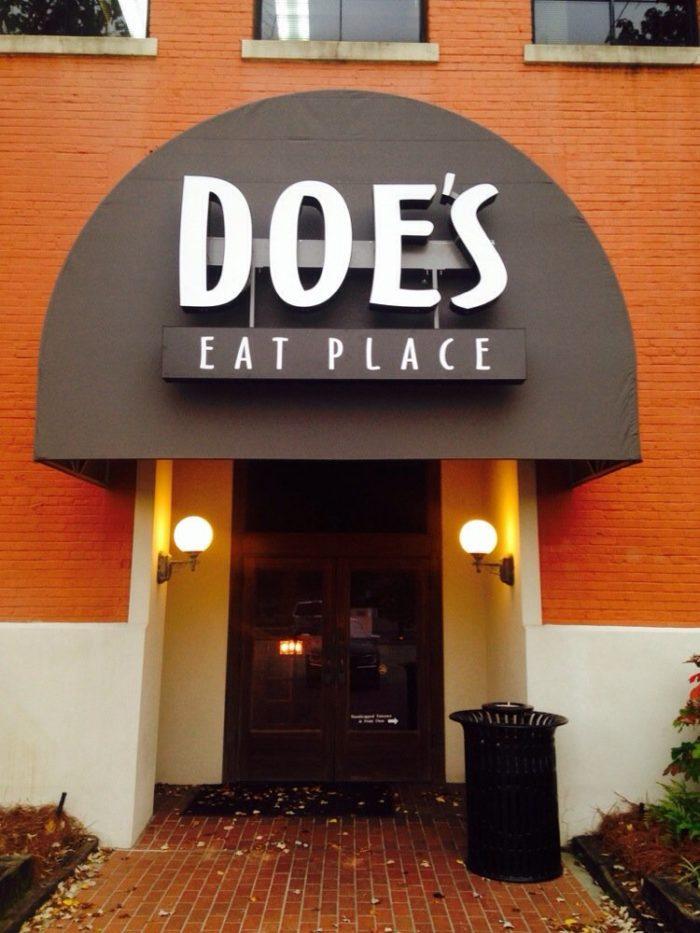 4) Doe's Eat Place, 300 Washington St., Monroe, LA