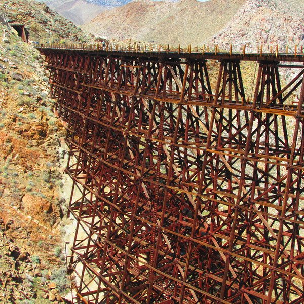 The Goat Canyon Trestle is the largest wooden railroad trestle in the world.