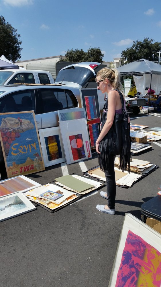 Looking for some art work to jazz up a spare room? There are some great pieces for sale at the flea market that you won't find anywhere else.