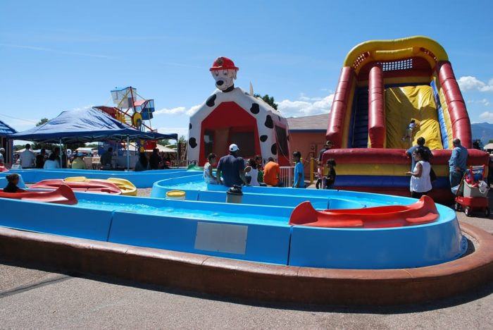 ...rides and inflatables for the kids...