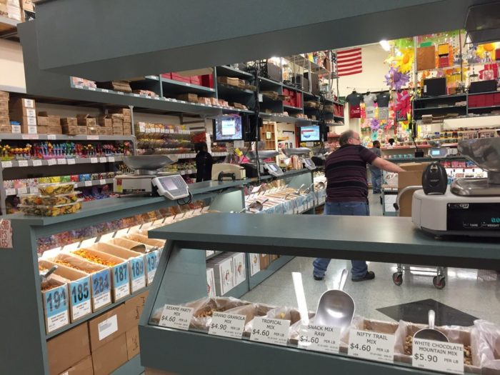 With over 4,500 different items (varying from candy to fresh roasted nuts to snack mixes), this massive candy store promises to have what you're looking for!