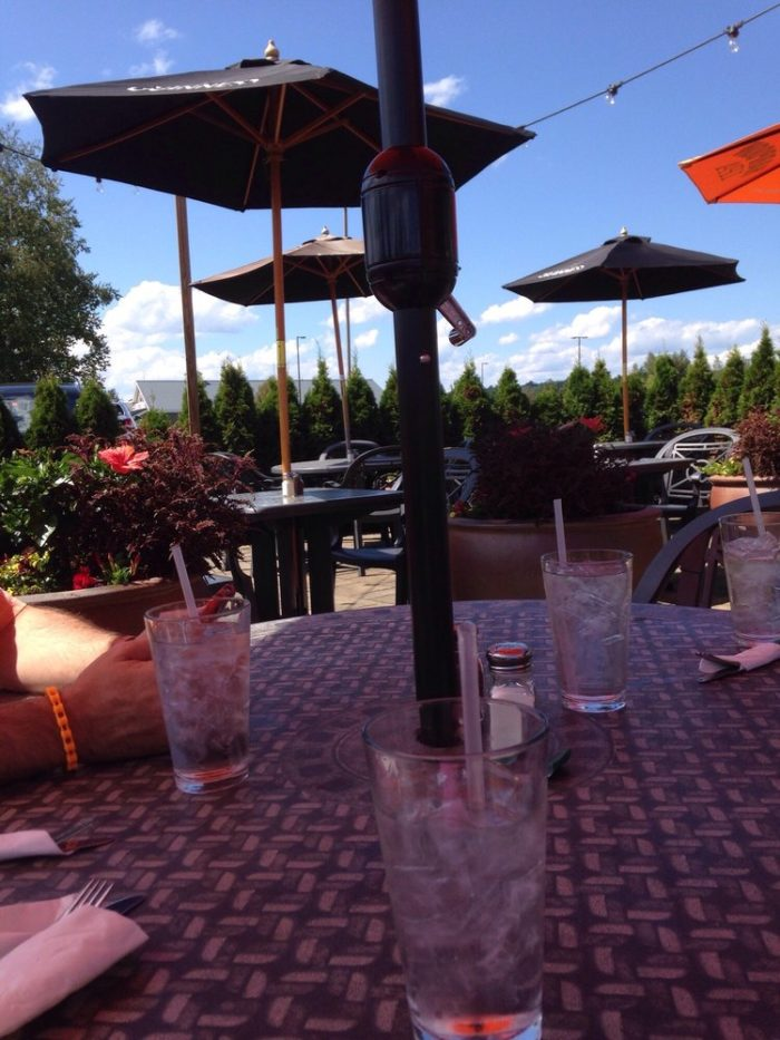 The outdoor dining is perfect on a nice night.