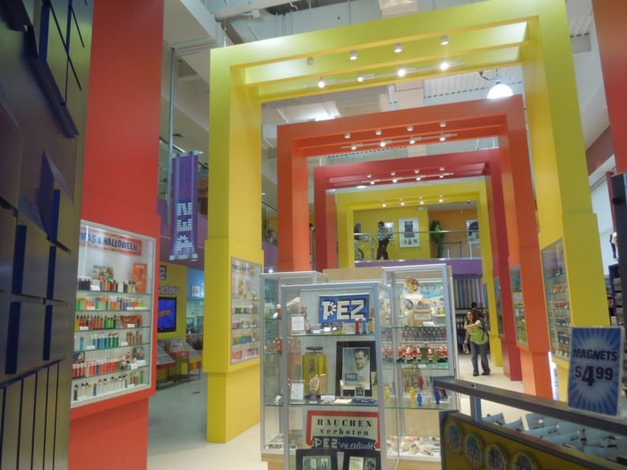 The colorful main floor is full of bright colors and awesome displays. You'll feel like a kid at a toy store as you peruse the stops and rush to explore every corner.