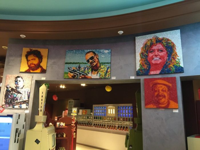 Celebrity Portraits...made out of candy.