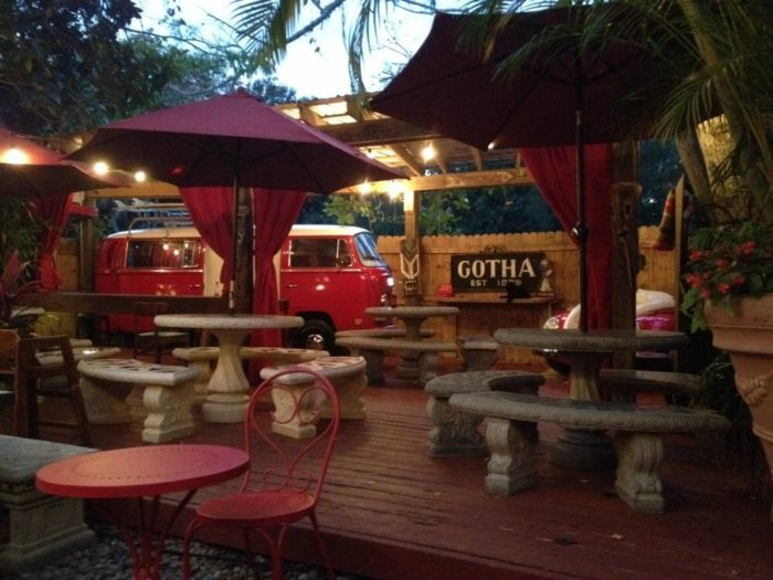The unique building gives Yellow Dog Eats a charming and quirky vibe that makes diners feel right at home. From the cozy, rustic interior to the funky backyard patio complete with a VW bus, the only thing that can outshine YDE's atmosphere is the incredible food.