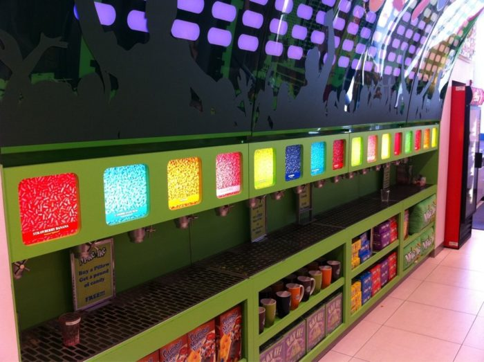 Or check out this impressive collection of Mike and Ike flavors! Fill up a cup or small bucket with as many flavors as your heart desires.