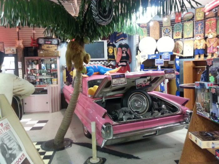 While you're in the back of the store, check out the funky old car, retro arcade room, vintage toys and lunch boxes, and too many other fantastic curiosities to mention.