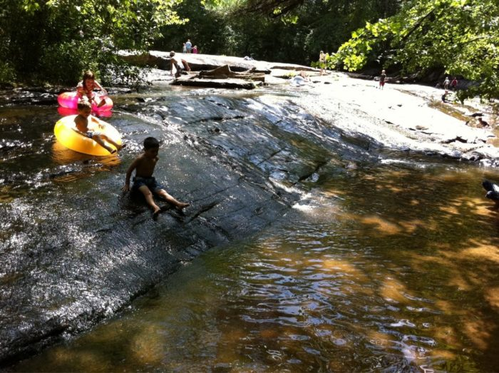 8. Slide down the rocks at Poole's Mill