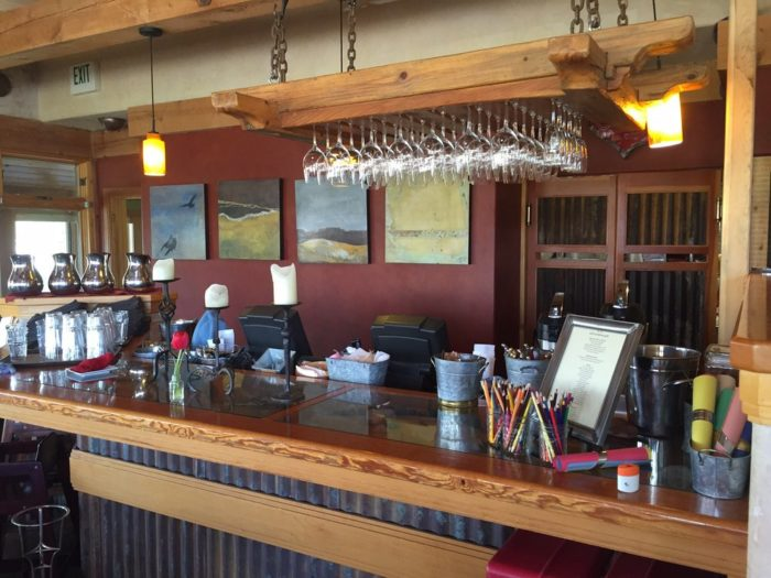 Hell's Backbone Grill has the only bar in town - join them for some tasty cocktails,  beer or wine.