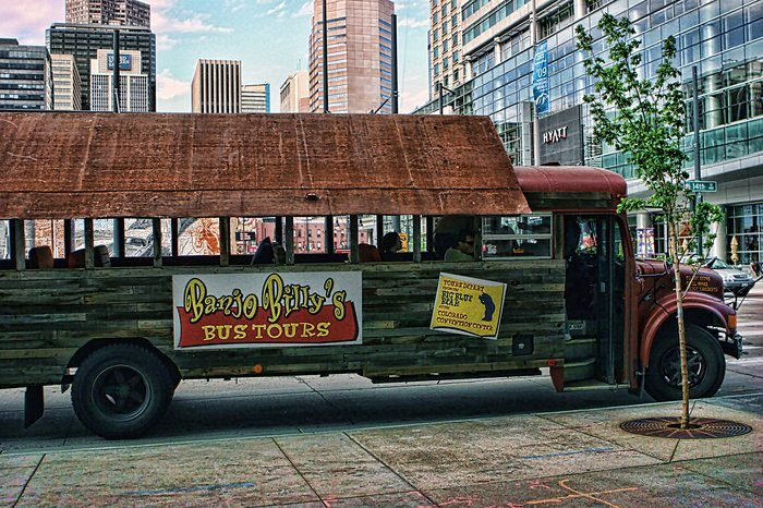 """OK, so maybe it isn't a trolley per se, but Banjo Billy's is something even better! Purchased on eBay in 2005, the """"trolley"""" is an old school bus turned tour bus that offers a variety of trips including a private..."""