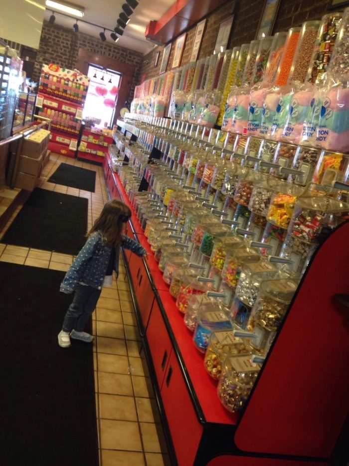 Shelves of candy as far as the eye can see; rows upon rows of savory sweets.