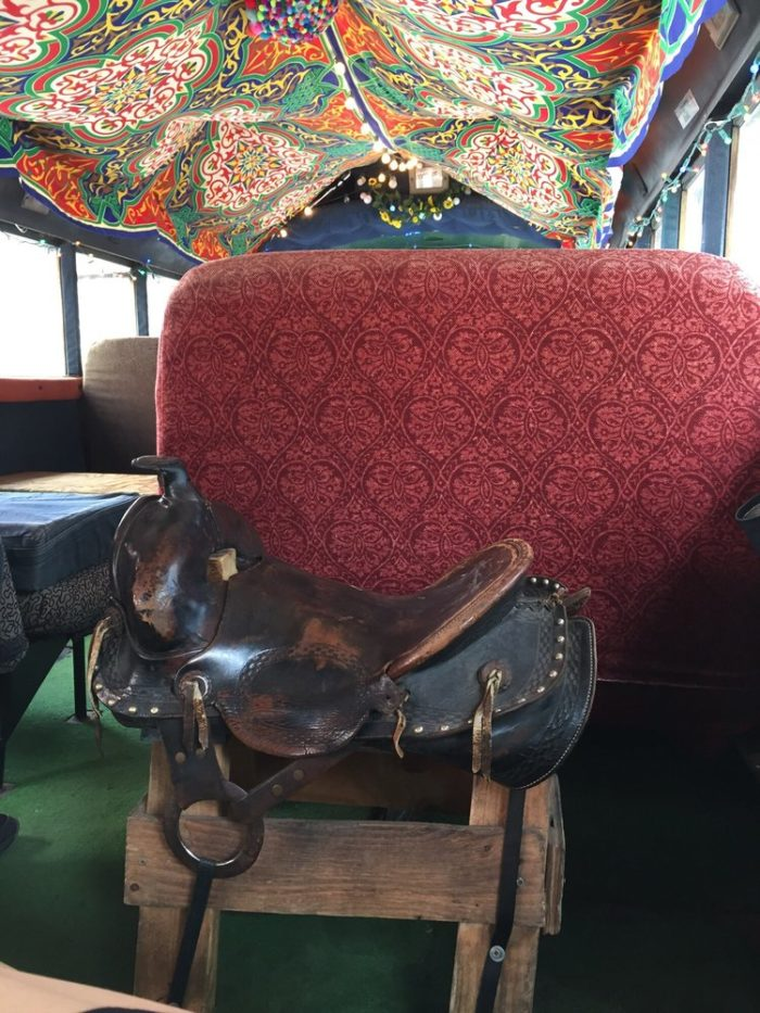 As if the outside of the bus wasn't fun enough, wait until you get a load of the inside with its real leather saddle...