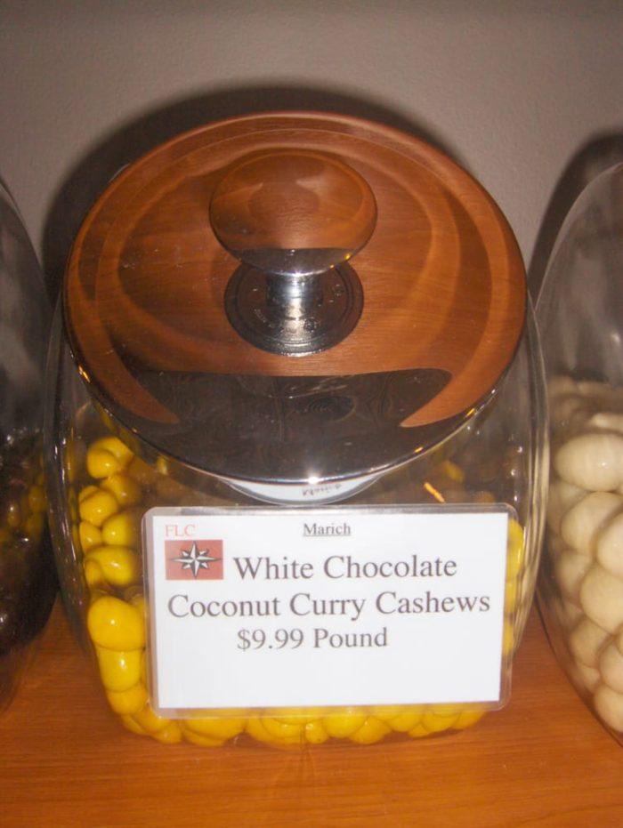 White Chocolate Curry Cashews