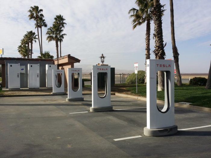 Charge your Tesla in the parking lot for free.
