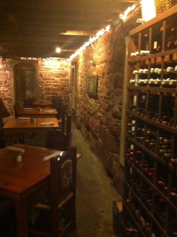 The downstairs is very rustic and cellarlike. Be on the lookout for Dottie, the ghost that roams White Dog Hill.