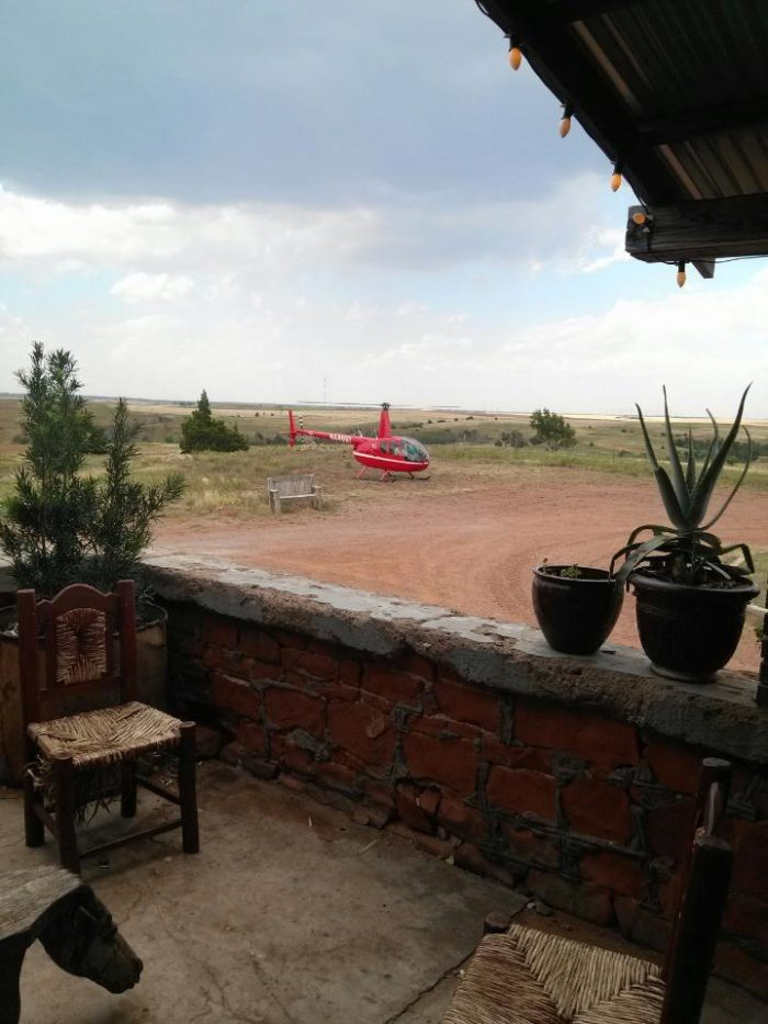 There are many ways to get to this secluded restaurant. Most people drive, but some arrive by helicopter.